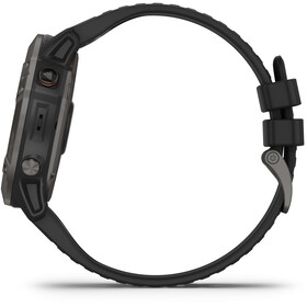 Garmin Fenix 6X Sapphire DLC Montre GPS multisport, black/slate grey